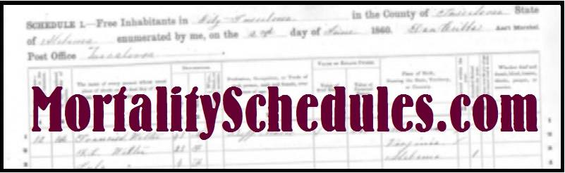 Mortality Schedules - free death records search through the federal census mortality schedules online.